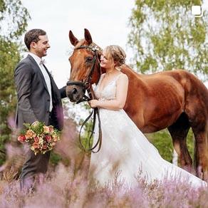 Hochzeitsbild auf Instagram